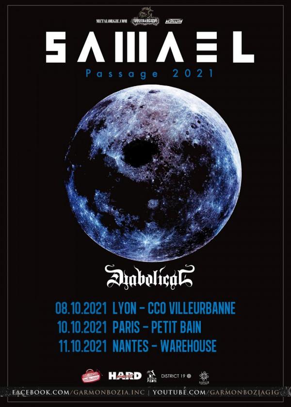 Samael, Diabolical, tournée, 2021, Passage