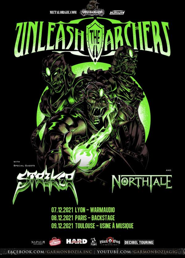 Unleash the Archers, Striker, NorthTale, concert, tournée, 2021, power, heavy metal