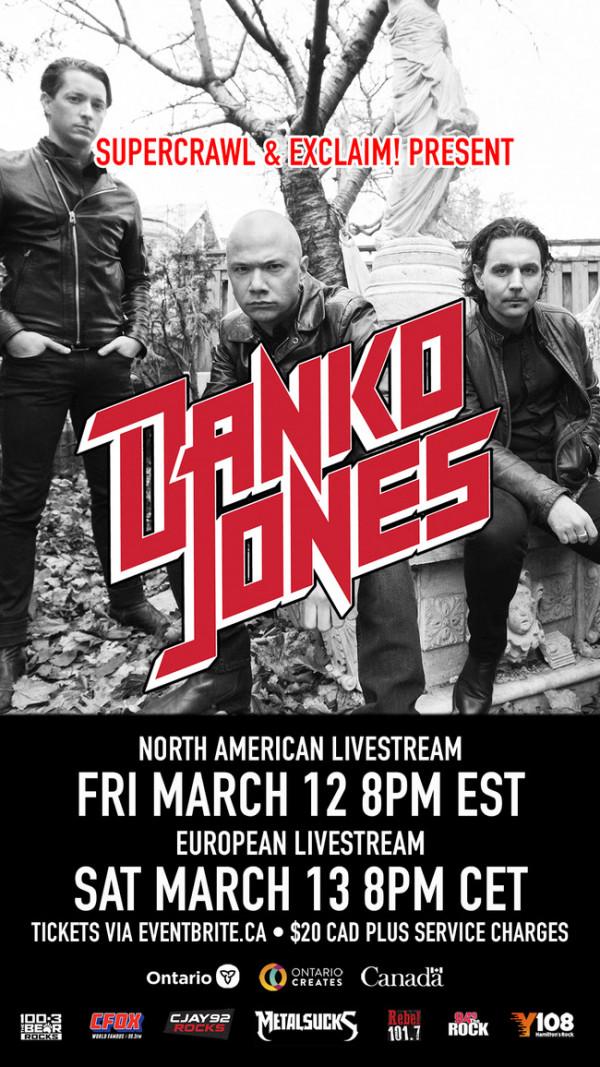 Danko Jones, 25, 25 ans, anniversaire, concert, live, livestream, rock, mars, 2021