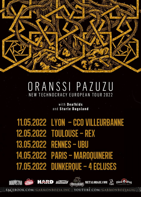 Report, 2022, Oranssi Pazuzu, new technocracy european tour, Sturle Dagsland, dates françaises,