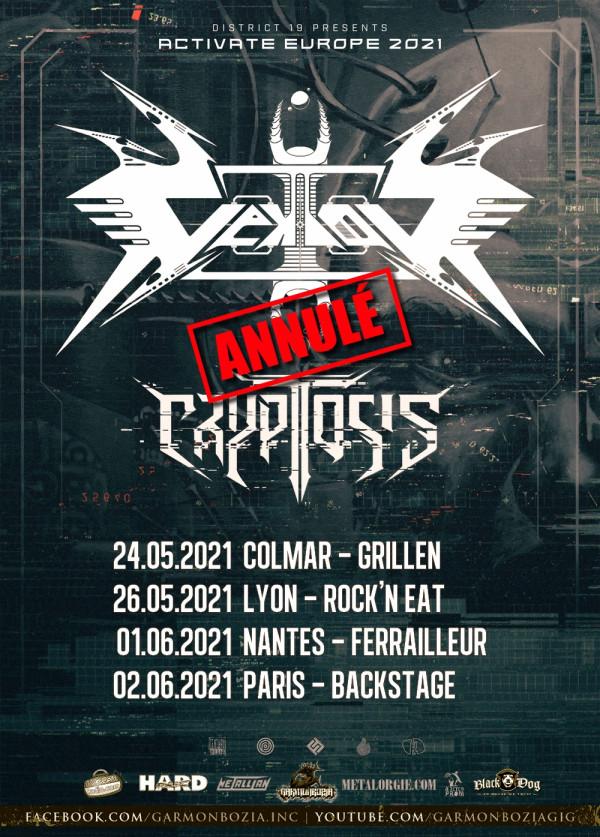 Annulation, Vektor, Cryptosis, thrash, concerts, France, 2021, Garmonbozia Inc.