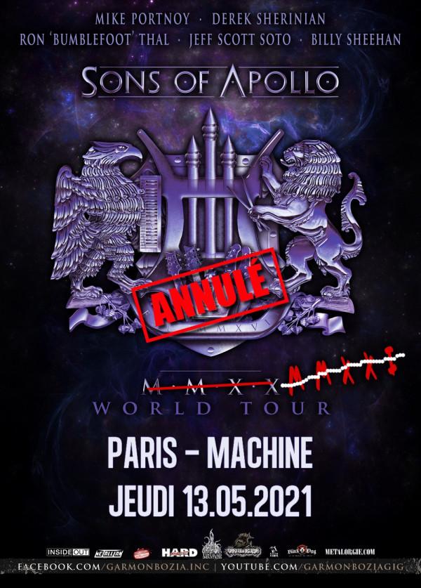 2021, concert, garmonbozia, sons of apollo, la machine du moulin rouge, paris