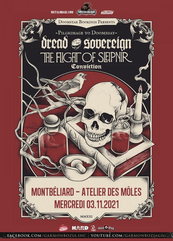 Dread Sovereign, The Flight Of Sleipnir, Conviction, concert, 2021, doom, Montbéliard, Garmonbozia Inc.
