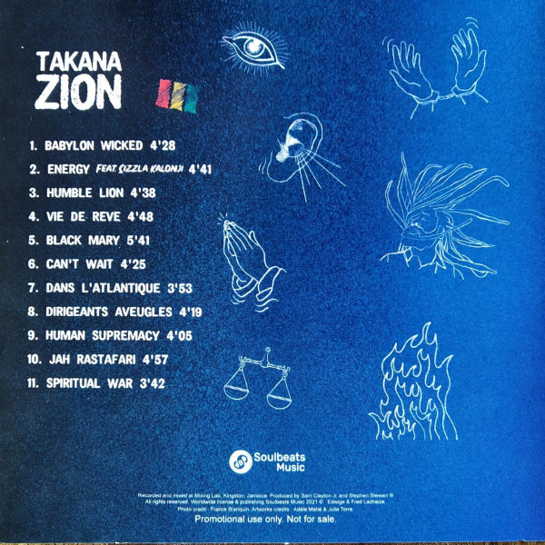 Takana Zion - Human Supremacy (2021) back cover