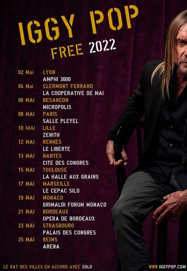 iggy pop, free, tournée