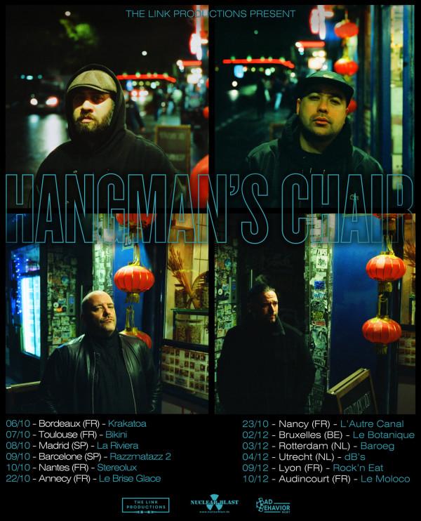 Hangman's Chair, tournée, 2021, concerts, Cold & Distant