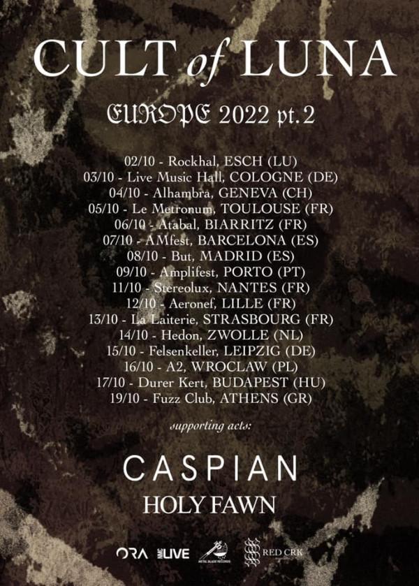 Cult of Luna, concerts, tournée, 2022