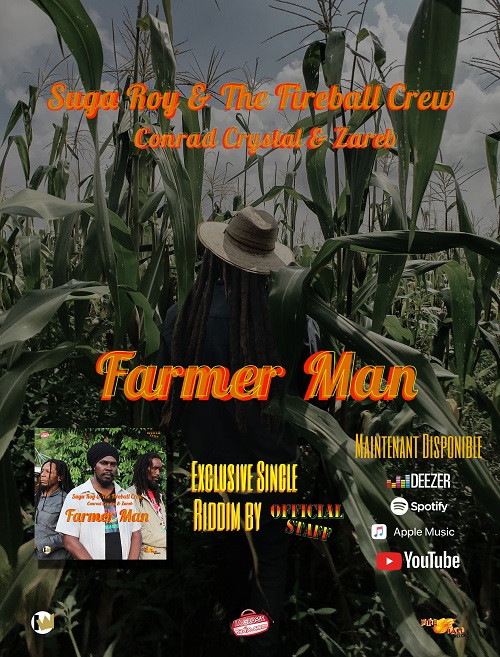 "Flyer web "" Farmer Man "" - Suga Roy and The Fireball Crew"