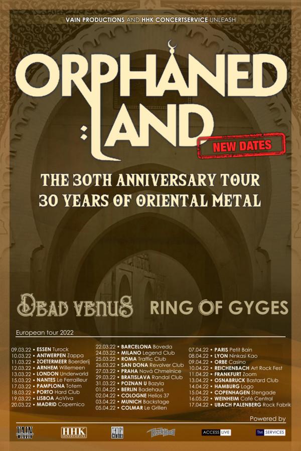 Orphaned Land, tournée, anniversaire, 30 ans, metal, 2022, Petit Bain