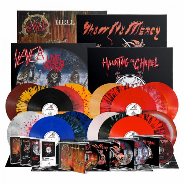 2021, albums, slayer, show no mercy, haunting the chapel, live undead, hell awaits