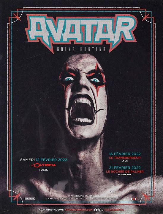Avatar, concerts, 2022, nouveau label, Black Waltz Records, nouvelle chanson, Going Huning, Barren Cloth Mother