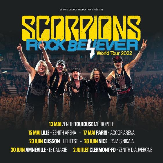 Scorpions, nouvel album, nouvelle tournée, 2022, Rock Believer, concerts
