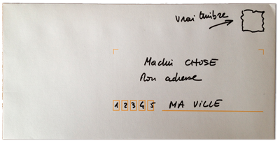 Enveloppe La Grosse Radio pour recevoir des autocollants