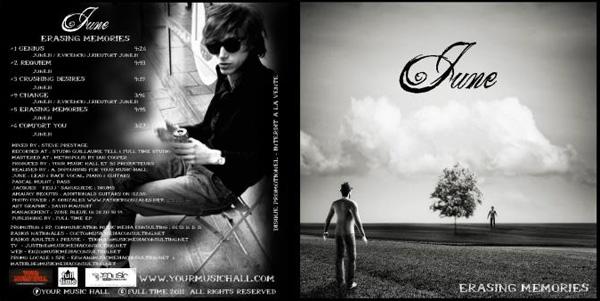 June - Erasing Memories - Nouvel EP sept 2011