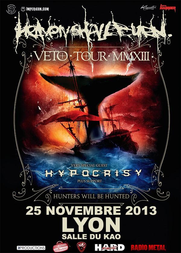 Heaven Shall Burn - 25 Novembre 2013 au Kao de Lyon. Avec La Grosse Radio
