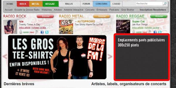 Pavés publicitaires La Grosse Radio