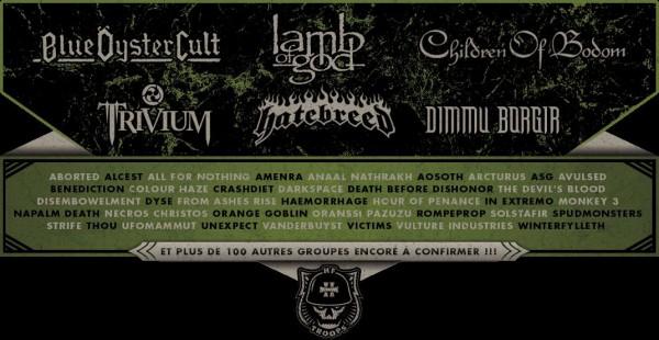 Hellfest 2012 - premiers groupes annoncés