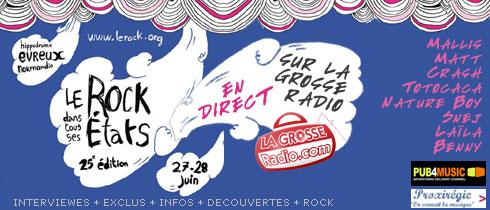 rock dans tous ses etats evreux 2008 interviewes concerts radio en direct