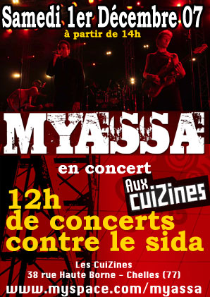 Myassa en concert au Cuizines Myassa live
